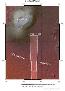 Lava flows in Daedalia Planum