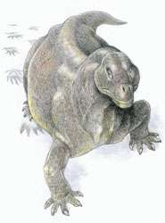 Reptiles stood upright after mass extinction