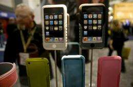 A display of iPhones