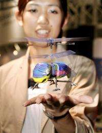 A lithium-powered radio-controlled helicopter in Tokyo