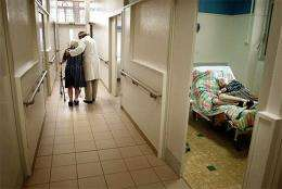 An Alzheimers patient at a psychiatric hospital