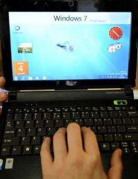 A netbook with the new Windows 7