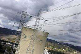 A power plant pictured in northern Spain in March 2007