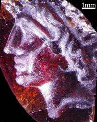 A rare discovery: An engraved gemstone carrying a portrait of Alexander the Great