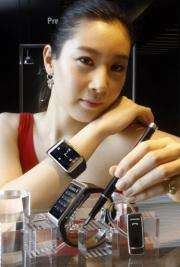 A Samsung Electronics' watch-shaped mobile phone