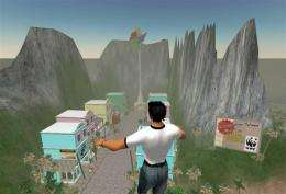 A Second Life avatar lands in WWF's Conservation Island
