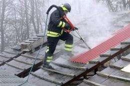 A Swedish fireman in Boraas