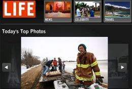A view of Life.com front page