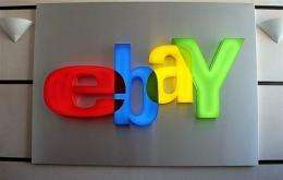 Ebay logo at Ebay-France headquarters in Paris