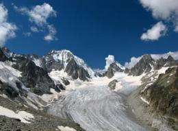 Glacial melting may release pollutants in the environment