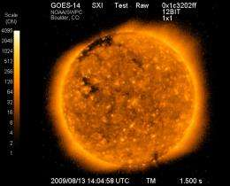 GOES-O Releases First Solar Image