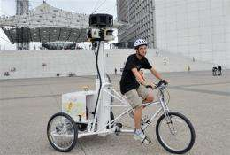 """Google's """"Street View"""" is created by still photographs taken by specially-equipped vehicles"""