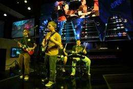 Guitar Hero is demonstrated at the E3 Expo in Los Angeles