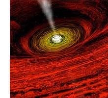 Invading black holes explain cosmic flashes