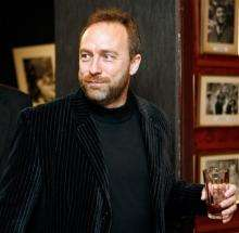 Jimmy Wales, co-founder of online collaborative encyclopedia Wikipedia