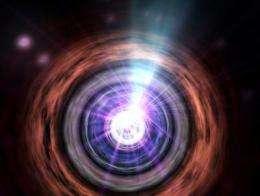 Matter Falling into a Supermassive Black Hole