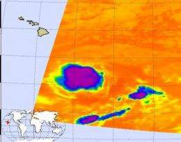 NASA's satellite imagery sees Hilda hit a wall