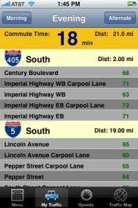 New iPhone Traffic App Delivers Personalized Traffic Reports to California Commuters