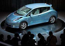 "Nissan Motor's electric vehicle called ""Leaf"""