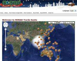 NORAD is tracking Santa Claus's progress