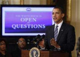 Obama turns to Web to take questions from public (AP)
