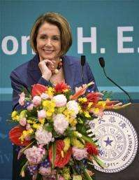 Pelosi appeals for China's help on climate change (AP)