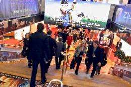 People visit the MIPTV trade show in Cannes