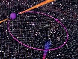 Pulsar orbiting a companion neutron star