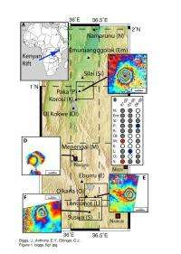 Study uses satellite imagery to identify active magma systems in East Africa's Rift Valley