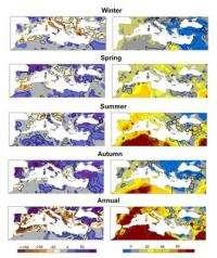 Rainfall to decrease over Iberian Peninsula