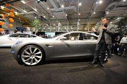 Tesla Motors Chairman and CEO Elon Musk introduces the new Tesla Model S all-electric sedan