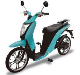 "The Japanese electric zero-emission hybrid scooter ""Miletto"""
