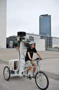 The tricycle captures images of places less accessible by car