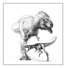 T. rex body plan debuted in Raptorex, but 100th the size