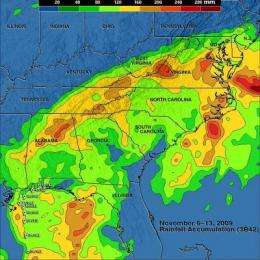 TRMM satellite mapped 'Ida the Low's' rainfall from space