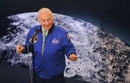 US astronaut Buzz Aldrin