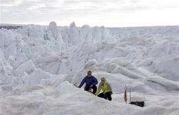 Warming ocean melts Greenland glaciers (AP)
