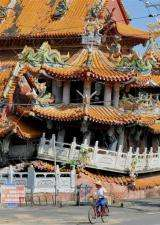 Wu Chang Gong temple in Taiwan was partially levelled by a powerful earthquake ten years ago