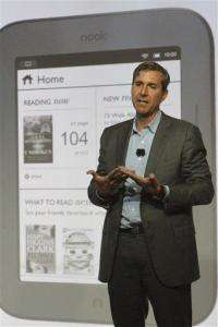 Barnes & Noble launches touch-screen Nook for $139 (AP)