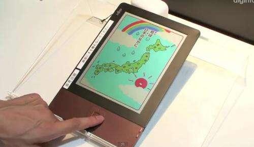Fujitsu shows off a color LCD eReader