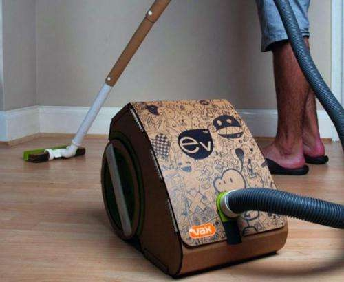College student invents cardboard vacuum cleaner