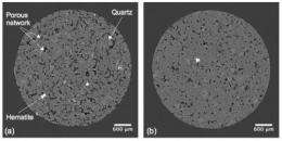 Going with the flow: Caltech researchers find compaction bands in sandstone are permeable