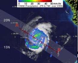 NASA sees Hurricane Hilary's heaviest rain in northwest quadrant