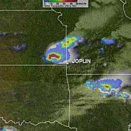 NASA's TRMM satellite saw heavy rainfall in supercell that spawned Joplin tornado