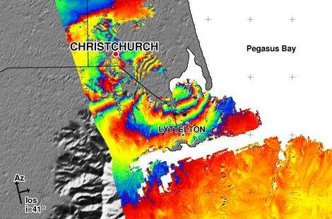 Satellite spies Christchurch quake