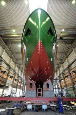 The Rainbow Warrior III is 58 metres (190 feet) long and weighs 680 tonnes