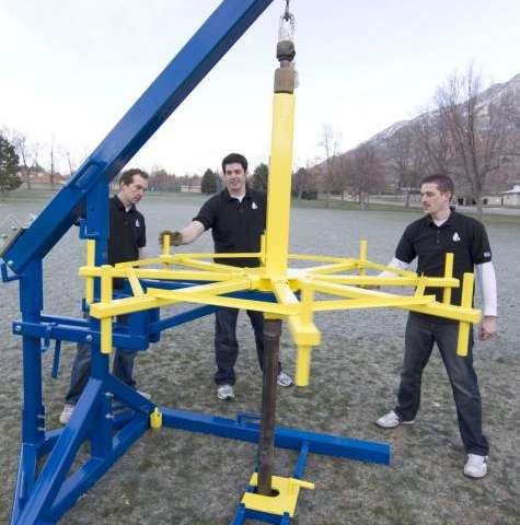 Student engineers build human-powered drill for clean water in developing nations