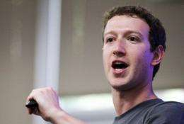 Mark Zuckerberg speaks during a news conference at Facebook headquarters in Palo Alto, California, in July