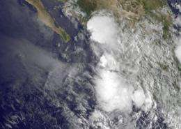 Tropical Depression 8E's remnants still hug Mexican coastline