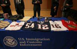US authorities said Monday they have shut down 150 websites offering counterfeit goods like sports jerseys